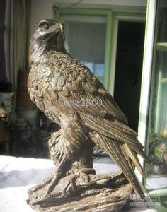 solid bronze eagle statue