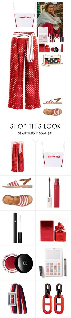 """Outfit"" by eliza-redkina ❤ liked on Polyvore featuring n.d.c., Maybelline, Lancôme, Marc Jacobs, Edward Bess, LORAC, Gucci, RED Valentino, StreetStyle and outfit"