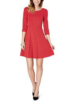 Red Polka Dot Bow Skater Dress