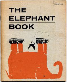 Great dumb-joke-book from 1963. Awesome design and drawings by Ed Powers. I love how the cover has a wrinkly texture, like elephant's skin.