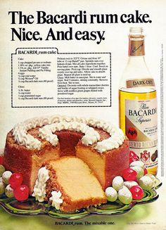 Farm Girl Pink....: ~ Holiday Baking... Bacardi Rum Cake...