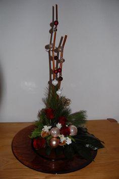 Kerst: simpel op ronde platte schaal
