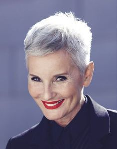 A Short Grey hairstyle From the