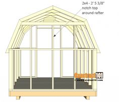 shed plans - small barn - back wall top studs. Building A Storage Shed, Barn Storage, Garden Storage Shed, Shed Building Plans, Diy Shed Plans, Outdoor Storage, Storage Sheds, Building Ideas, Small Barns