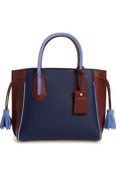 LONGCHAMP Small Penelope Tri-Color Leather Tote. #longchamp #bags #leather #hand bags #tote #