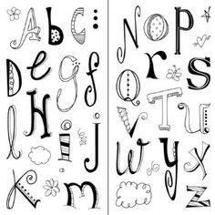 Amazon.com: Inkadinkado Doodle Alphabet Clear Stamps: Arts, Crafts & Sewing
