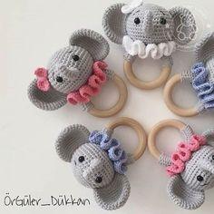 2019 all best amigurumi crochet patterns – Artofit Crochet Baby Toys, Crochet Mouse, Newborn Crochet, Crochet For Kids, Crochet Animals, Crochet Elephant, Newborn Toys, Baby Rattle, Sewing Toys