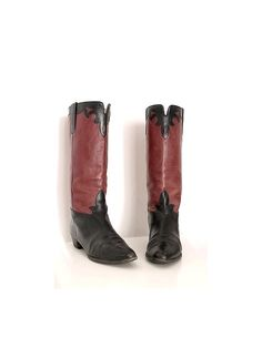 2b41e6af0135 Items similar to 1980 SACHA COLISEE flat riding BOOTS black and red leather  us women 7.5 fr38 on Etsy
