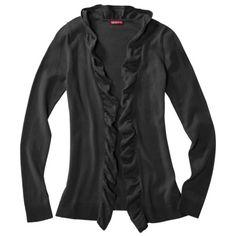 Merona® Women's Bellona Ruffle Cardigan Sweater - Assorted Colors