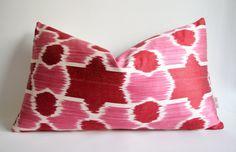 Sukan / Silk ikat Pillow Cover Decorative Throw Pillow by sukan, $49.95