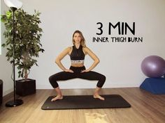 3 Minute Inner Thigh Burn - YouTube