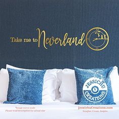 Take me to Neverland - Peter Pan Inspired Disney Quote Wall Vinyl Decal