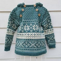 Snøhetta anorak and sweater von SiSiVeAS auf Etsy Knitting For Kids, Knitting Projects, Baby Knitting, Crochet Baby, Knit Crochet, Baby Fair, Norwegian Knitting, Fair Isle Pattern, Fair Isle Knitting