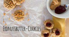 Erdnussbutter-Cookies - schnelles, einfaches Rezept mit oder ohne Marmelade. | creative-little-things.de
