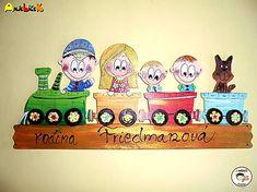 anjelicek / Menovka - rodinka vo vlaku