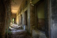Haunted rooms of an abandoned mental hospital on Poveglia island, (near Venice) ~ opened in 1922, the doctor who ran the hospital was thought to be mad and the patients were said to be haunted by spirits of the plague victims that had been left to die there in the 1570s.