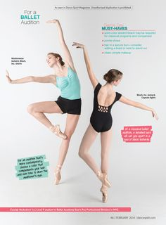 What to wear to a ballet audition (photography by Erin Baiano for Dance Spirit)