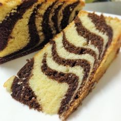 Mrs Ng's Butter Cake in Zebra stripes Adapted from Table for Two ….or More calories (Based on a 2000 calorie diet) Mixture A : unsalted butter at room tem… Marble Cake Recipes, Sponge Cake Recipes, Dessert Cake Recipes, Easy Cake Recipes, Baking Recipes, Dessert Ideas, Yummy Recipes, Desserts, Gooey Butter Cake