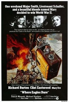 Where Eagles Dare (1968) movie #poster, #tshirt, #mousepad, #movieposters2