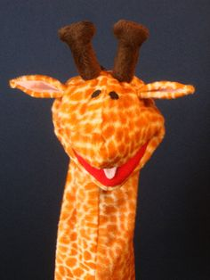 Creatures Inspired  Anthony the Giraffe Hand by CreaturesInspired, $34.00