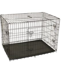 Pet Cage, Aleko 3-Door Dog Crate Cage SDC-3D-42B-WM in Durable Welded Steel Construction (42' L x 28' W x 30'H ) -- Find out more details by clicking the image (This is an amazon affiliate link. I may earn commission from it)