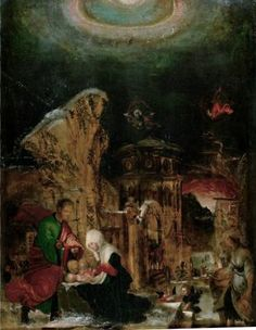 1520- 1525 Nativity - Albrecht Altdorfer Titulo original: Geburt Christi