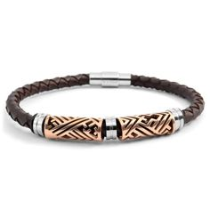 Buy Fort Tempus - Gold Leather Bracelet for only SGD Shop at Trendhim and get free returns. Ankle Bracelets, Bracelets For Men, Jewelry Bracelets, Leather Bracelets, Braided Bracelets, Gold Leather, Leather Men, Leather Cuffs, Leather Jackets