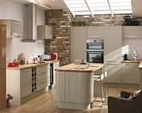 Burford Grey kitchens feature a matt shaker style door in subtle grey, providing a versatile and unique kitchen for both traditional or modern settings. Kitchen Style, Grey Kitchen, New Kitchen, Family Kitchen, Kitchen Improvements, Howdens Kitchens, Home Kitchens, Kitchen, Kitchen Diner