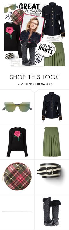 """""""Fashionable winter"""" by edita1 ❤ liked on Polyvore featuring RetroSuperFuture, FAY, Dolce&Gabbana, Le Kilt, Vivienne Westwood, Gap, MICHAEL Michael Kors and winterboots"""