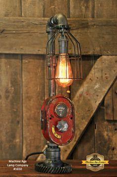 Steampunk Lamp, Antique Farmall Tractor Dash Farm Lamp #1650
