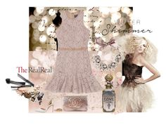 """""""Holiday Sparkle With The RealReal: Contest Entry"""" by canopia ❤ liked on Polyvore featuring Parvez Taj, Chanel, Manolo Blahnik, Lanvin, Bocage and Gabriele Frantzen"""