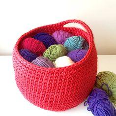 Large crochet basket nursery storage toy tidy by Pixiesmagichook