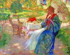 Woman in a Garden  Pauline Palmer