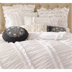 buy anthology clara ruffled twin mini comforter set from bed bath u0026 beyond