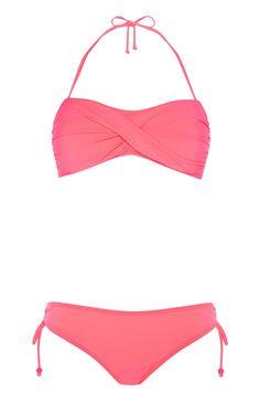 Pregnancy made stylish. 💙 ~ 💜 This stunning Bandeau Bikini Set, Hot Bikini, Primark, Summer Wardrobe, String Bikinis, Hot Pink, Stylish, Swimwear, How To Wear