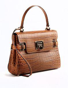 Astrid Medium Croco Leather Satchel Bag