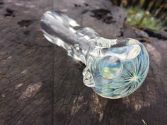 Extra Lightly Silver-Fumed Jellyfish Glass by FlabbaGlassDesigns    $30
