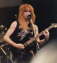 A young Dave Mustaine