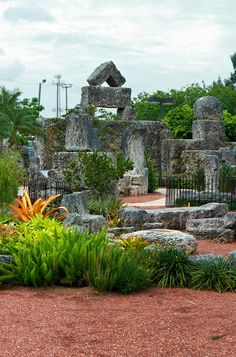 Coral Castle. Homestead, Florida. Like the ancient egyptians, this man found the secret of antigravity. He was able to build this castle made of stone by himself in a short period of time.