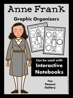 These graphic organizers for your study of Anne Frank work well as individual student pages. In addition, they are perfect as note pages in interactive notebooks. Students can cut around the border and glue the pages into a regular spiral notebook. If you photocopy the pages at 85%, they look great in composition books as well! ($)