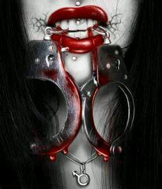 Beautiful colorful pictures and Gifs: Slave-Tie Me Down Dark Gothic, Gothic Art, Gothic Girls, Dark Art Photography, Gothic Images, Wolf, Dark Artwork, Dark Fantasy Art, Fantasy Women