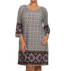 MOA Collection Women's Plus-size Shift Dress