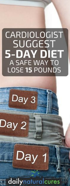 Lose weight fast with cardiologist suggested 5-day diet