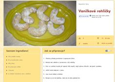 Vanilkové Czech Food, Czech Recipes, Crescent Rolls, Croissants, Horn, Horns