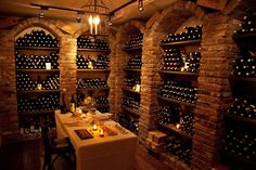 Love the idea of a home wine cellar where you can dine, do tasting, have fun in as well as store the wine