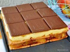 Sweet Recipes, Cake Recipes, Snack Recipes, Dessert Recipes, Cooking Recipes, No Cook Desserts, Apple Desserts, Great Desserts, Romanian Desserts