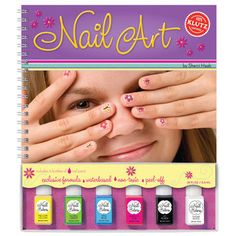 Nail Art is so trendy right now, this set by Klutz makes it easy to DIY