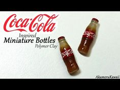 Coca Cola inspired miniature bottles - Polymer clay tutorial - YouTube