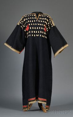 Lakota 19th century Trade Cloth Dress with Elk Teeth Adornment