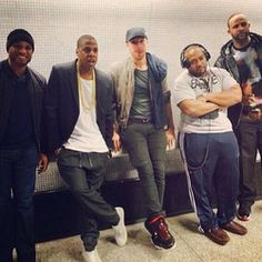 Check it out Jayz and friends on the Subway in London
